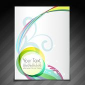 vector colorful flyer brochure template