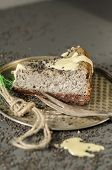 pic of cheesecake  - Cheesecake with black sesame seeds on Halloween - JPG