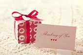 Thinking Of You Message With Red Present Box