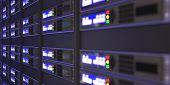 Computer Servers 3D Rendering