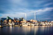 picture of pov  - Long exposure of a marina at the Inner Harbor Baltimore Maryland - JPG