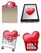 Creative Heart Icons Iliustration