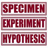 Specimen Experiment Hypothesis Stamp