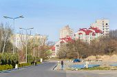 stock photo of dnepropetrovsk  - Part living building with blue sky overhead - JPG