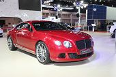 Nonthaburi - March 25: Bentley Continental Gt Speed Car On Display At The 35Th Bangkok International