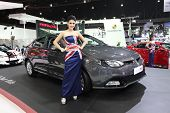 Bangkok - March 25 : Mg Mg6 Car With Unidentified Model On Display At The 35Th Bangkok International