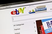 Ostersund, Sweden - July 24, 2011: Close up of ebay's website on a computer screen. ebay is one of t