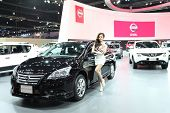 Bangkok - March 25 : Nissan Sylphy Car With Unidentified Model On Display At The 35Th Bangkok Intern