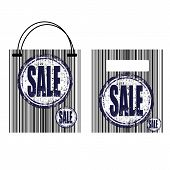 Barcode Shopping Bag With Sale Sticker