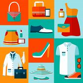 Shopping fashion design elements