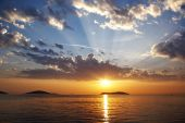 Sky over Marmara sea
