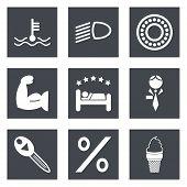Icons for Web Design set 34