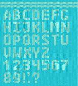 Textile vector alphabet