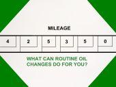 Señal de anuncio de tienda de servicio de cambio de aceite