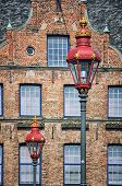 Dusseldorf, Germany. Street Lamps