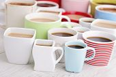 lots of coffee cups - coffee time