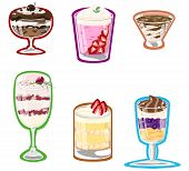 Vector illustration of parfait collection