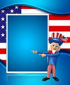 stock photo of uncle  - 3d rendered illustration of uncle sam isolated on the colorful background - JPG
