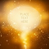 gold and brown background with space for text.