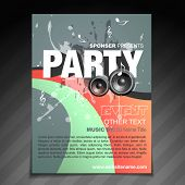 vector party brochure flyer design