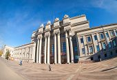Samara, Russia - October 20: Academic Opera And Ballet Theater At The Kuibyshev Square On October 20