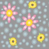 Decorative seamless floral patterned texture