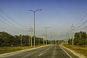 Sunrise Concrete Road