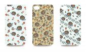 Mobile phone cover back set .Cute hedgehog,Autumn harvest