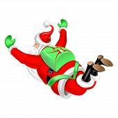 Santa Clause Parachute Jumper
