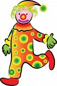 foto of clown face  - a happy cute clown withe smile face - JPG
