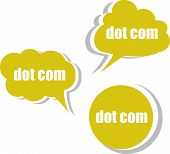 Dot Com. Set Of Stickers, Labels, Tags. Business Banners, Template For Infographics