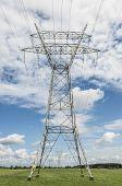 High voltage pylon in a landscape