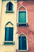 Traditional Window Of Typical Old Venice Building