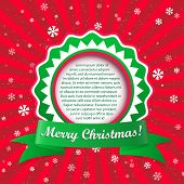 Christmas Applique Background. Vector Illustration With Frame For Your Text