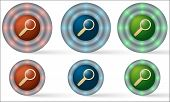 Set Of Six Icons With Magnifier