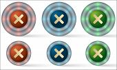 Set Of Six Icons With Multiplication Symbol