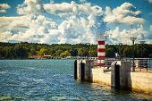 Small Striped Lighthouse In Klaipeda