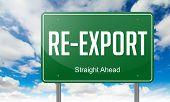 Re-Export on Highway Signpost.