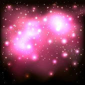 Pink Starry Background