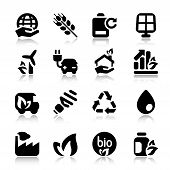 Flat Icons Ecology Set2 With Reflex