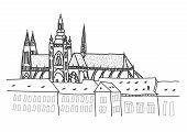 Prague Castle Drawing