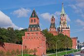 Wall And Towers Of Moscow Kremlin