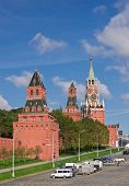 Moscow Kremlin Wall And Towers