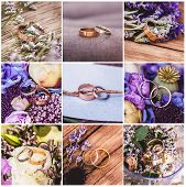 Collage Of Wedding Rings
