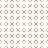 Floral vector seamless pattern. Black and white colors