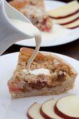 Slice Of Freshly Baked Rhubarb Crumble