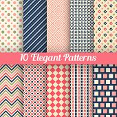 Elegant vector seamless patterns