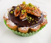Chocolate Cupcake With Nuts
