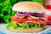 Home made burger