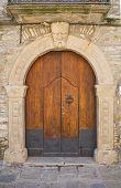 Wooden door. Guardia Perticara. Basilicata. Southern Italy.
